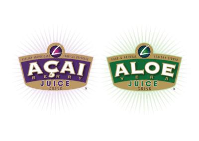 Acai Juice and Aloe Juice